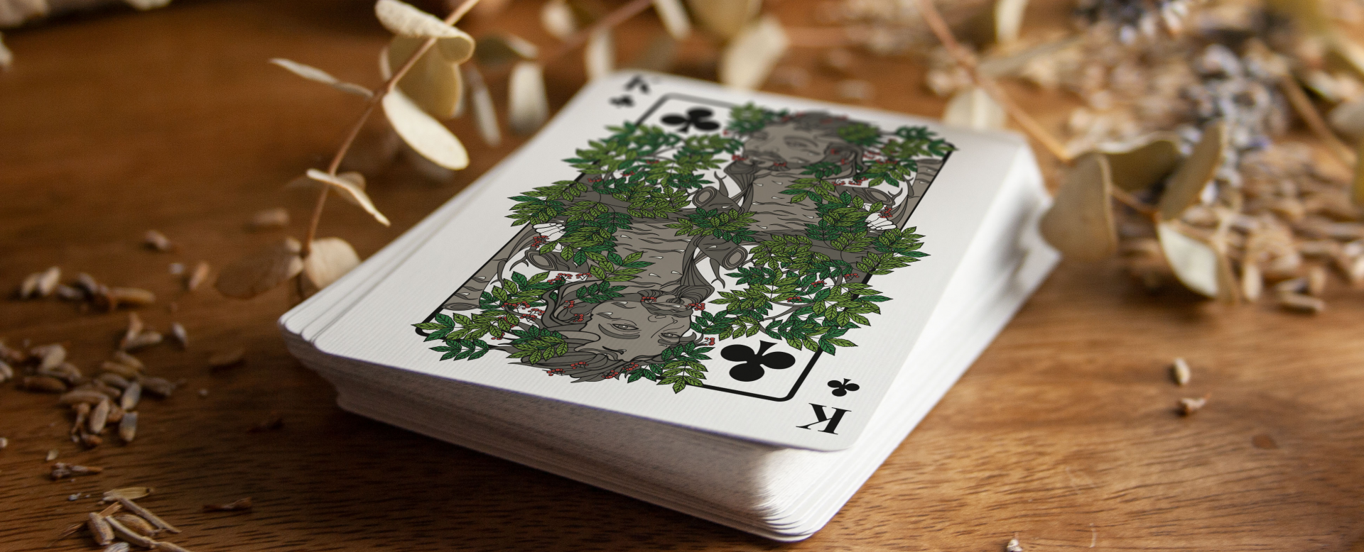 The Green Man Playing Cards